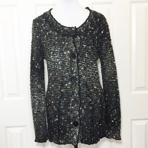 BCBG Pebbled Cardigan Long Sweater